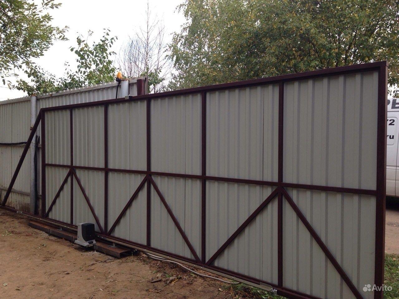 Ворота под проф лист металчн вироби ворота