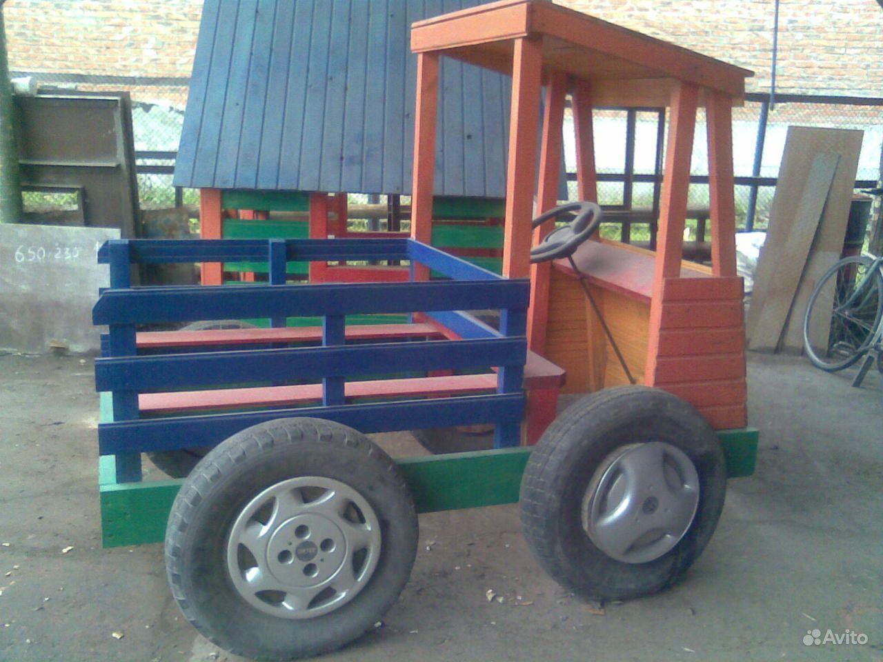 Детская машина на дачному участку своими руками