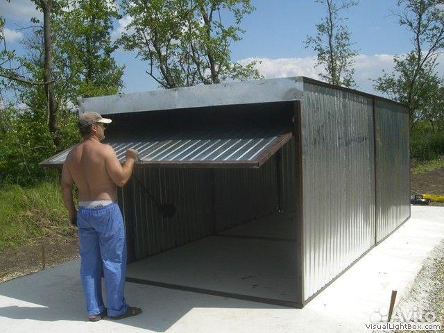 Как я построил гараж из профнастила своими руками