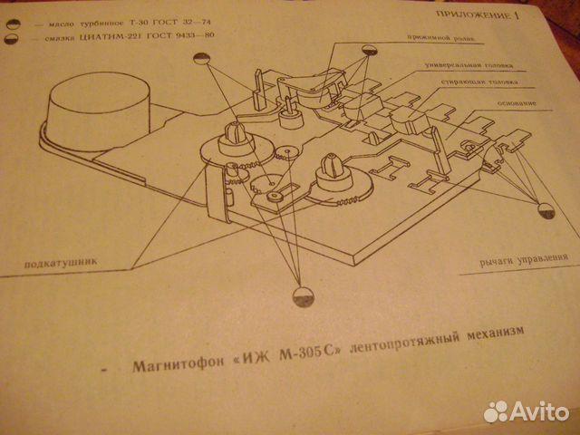 """Инструкция. Магнитофон """"иж-305"""