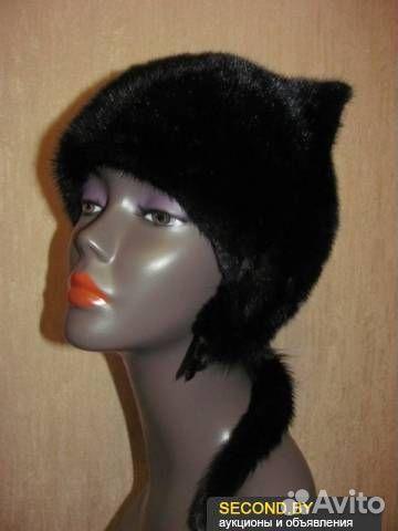 норковая шапка с ушками кошки фото