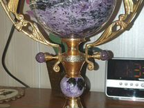 Кубок (чаша), чароит, латунь, золочение — Мебель и интерьер в Москве