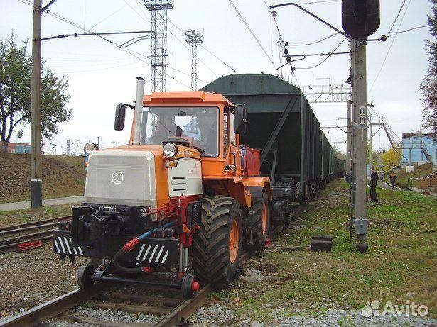 Колесно-рельсовый тягач крт-1 на базе трактора хта