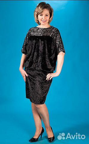 Платье из бархата-креш