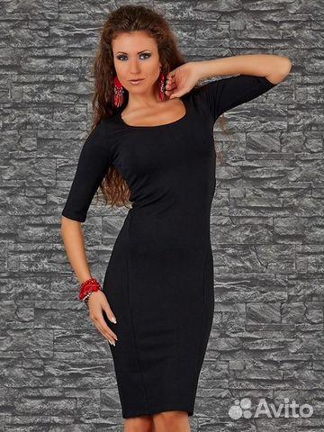 05e300e67d6 Платье женское классическое черное р.44-46 новое