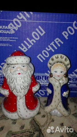 89061656450 Фарфоровые статуэтки Дед мороз и снегурочка