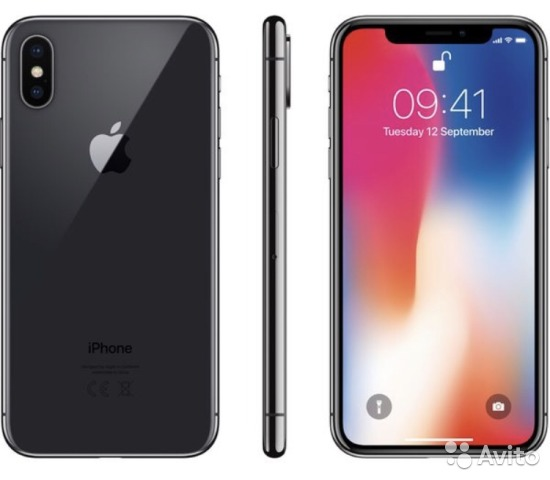 iPhone X Space gray (64gb) оригинал Ростест— фотография №1