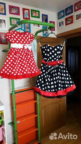 e2648a058e6 Платье стиляги мама и дочка
