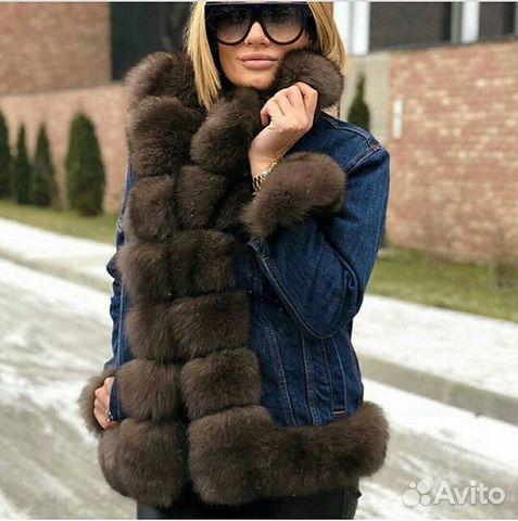 f41d7baf9fb1 Джинсовая куртка с мехом Песца. Premium Furs   Festima.Ru ...
