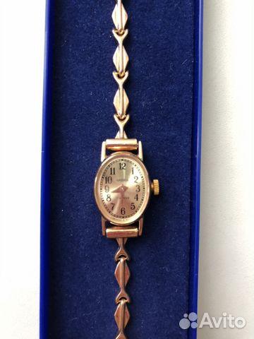 e87c65223d8e Золотые часы Чайка женские с золотым браслетом купить в Москве на ...