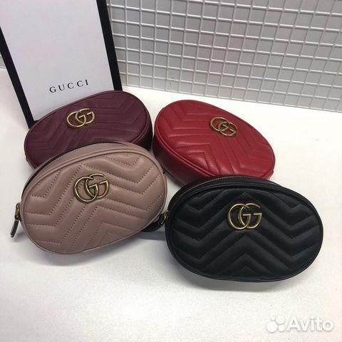 f3e269767374 Поясная Gucci GG Сумка Marmont На пояс кожа натура