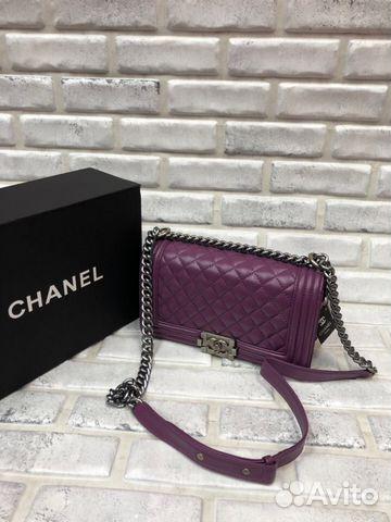 486c8ace88c5 Клатч Chanel Boy Шанель бой Сумка Сиреневая | Festima.Ru ...