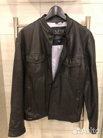 0f6b2695cd46 Кожаная куртка Armani Jeans оригинал   Festima.Ru - Мониторинг ...