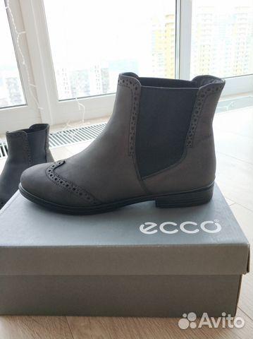 737504642 Ботинки челси женские из натуральной кожи Ecco 40р— фотография №1