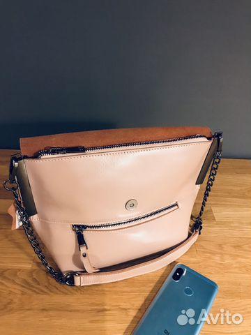d8eb5235e895 Женская сумка/ клатч цвет пудра натуральная кожа | Festima.Ru ...