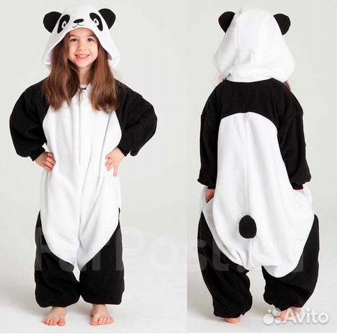 20939c570718f Костюм-Пижама кигуруми Панда для девочки или мальч— фотография №1