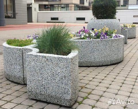 Цветники из бетона купить в спб виды бетона и применения и свойства