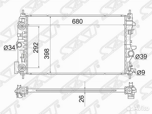 89190333000 Радиатор охлаждения Opel Astra J 2009-2015