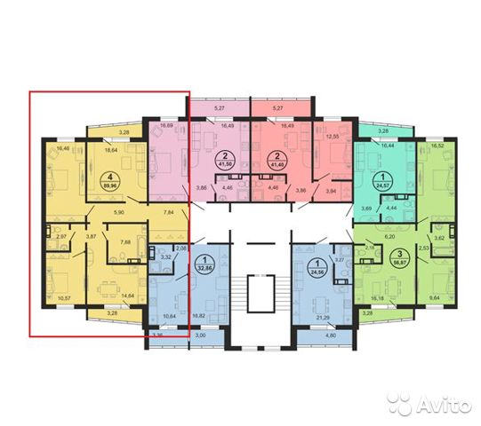 4-к квартира, 89.1 м², 2/11 эт.