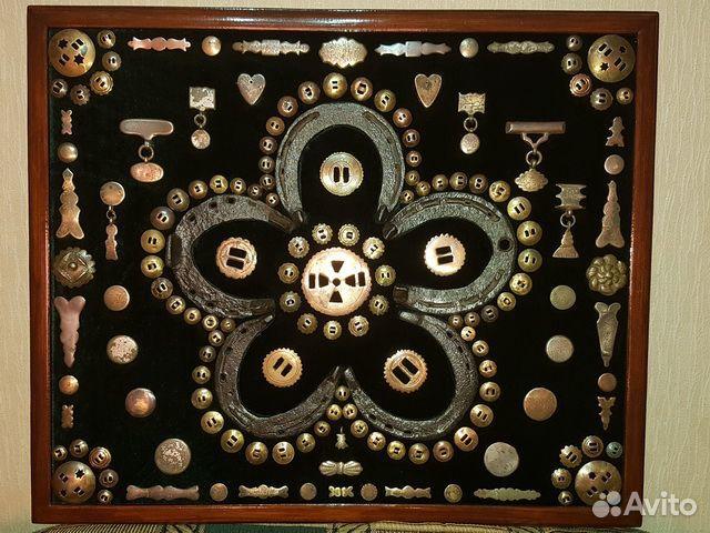 Панно из старинных предметов быта, конины  89033713097 купить 1