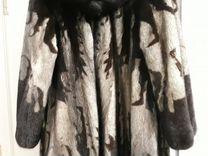 Норковая шуба махагон