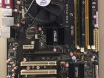 Материнская плата 775 + процессор + память + радиа