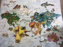 Карта мира обои
