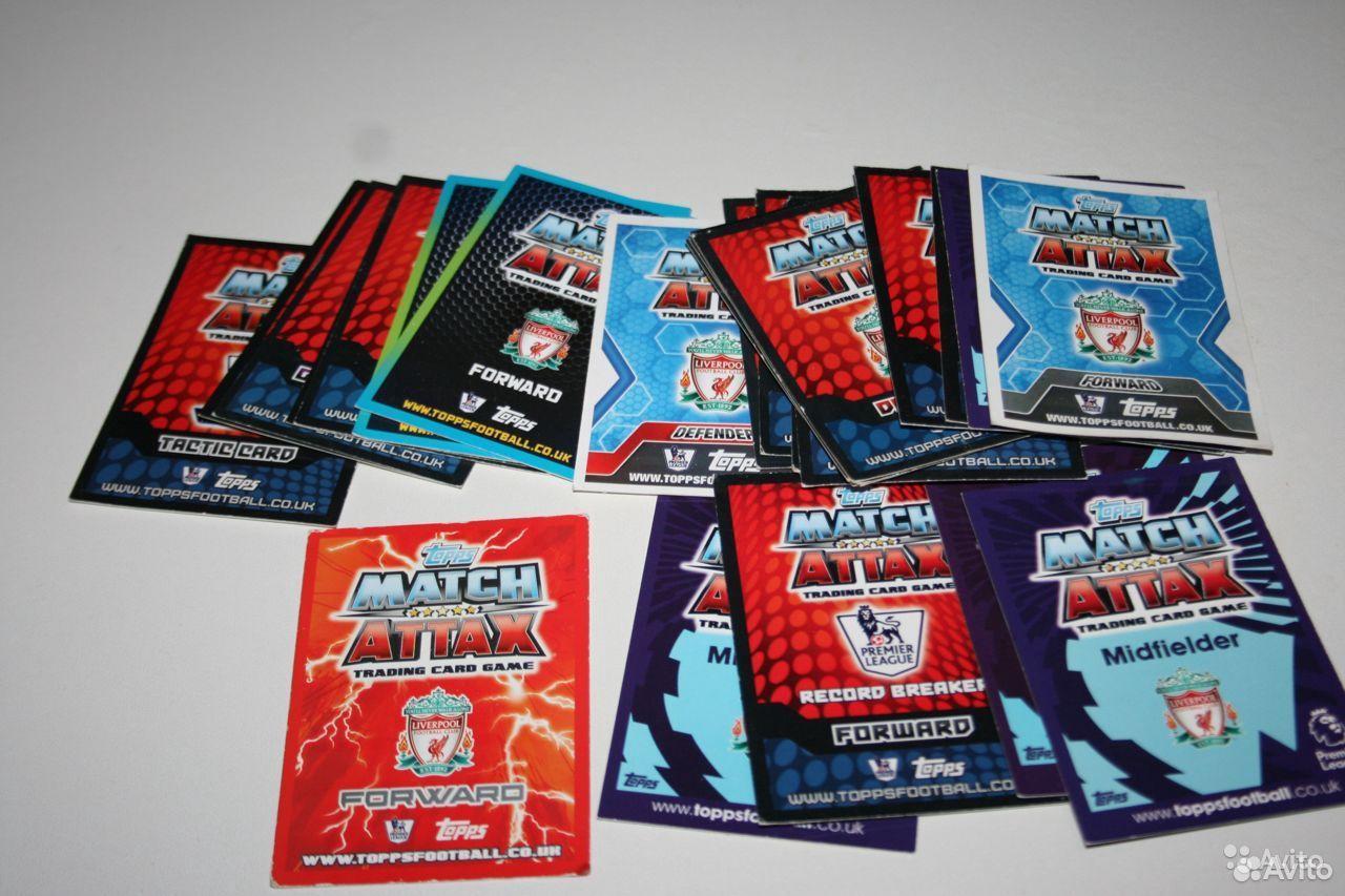 Карточки Ливерпуль Match Attax цена за все