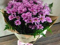 Букет из кустовых хризантем, букеты, цветы