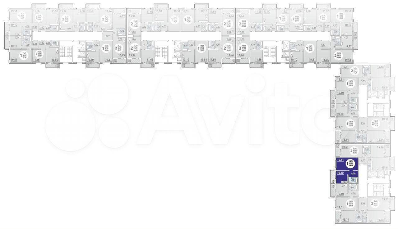 1-к квартира, 39.7 м², 15/16 эт.  88613255631 купить 1