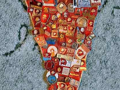 Коллекция значков СССР Ленин жил. Ленин жив. Ленин