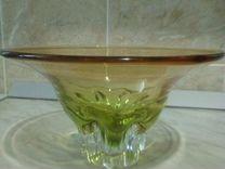 Конфетница из чешского стекла