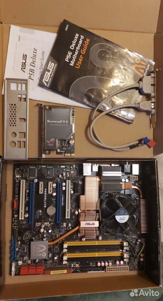 Asus P5E Deluxe Socket LGA775 Полный комплект  89101652659 купить 2