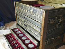 Мюнцкабинет для хранения монет,металлопластики