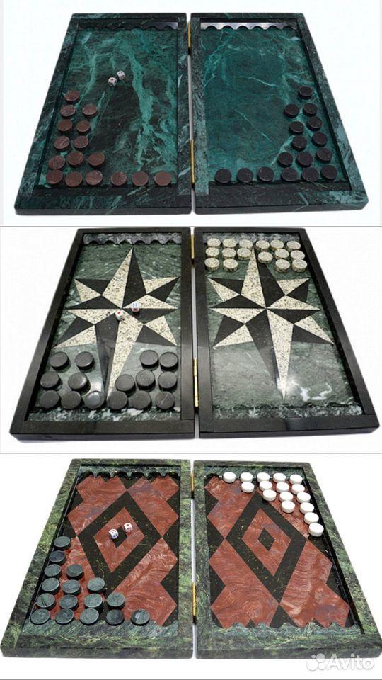 Подарочные нарды из натурального камня змеевика  89122288587 купить 9