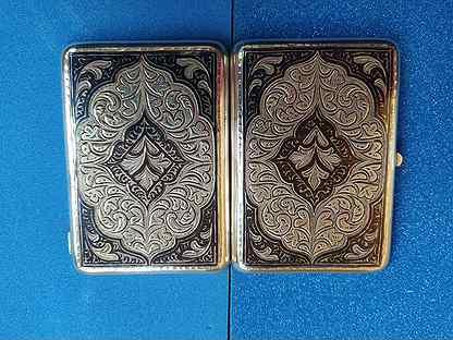 Портсигар серебро Кубачи