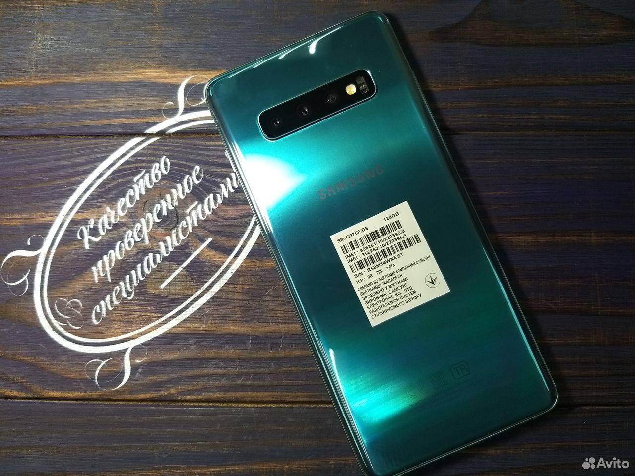 Samsung S10+ 128GB Аквамарин