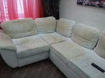 Угловой диван под перетяжу